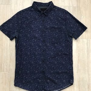 Navy Blue L slim fit Forever 21 casual button down